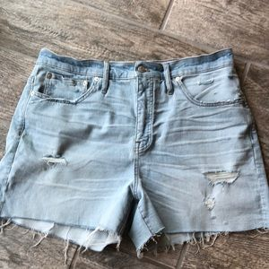 Madewell high-rise distressed shorts